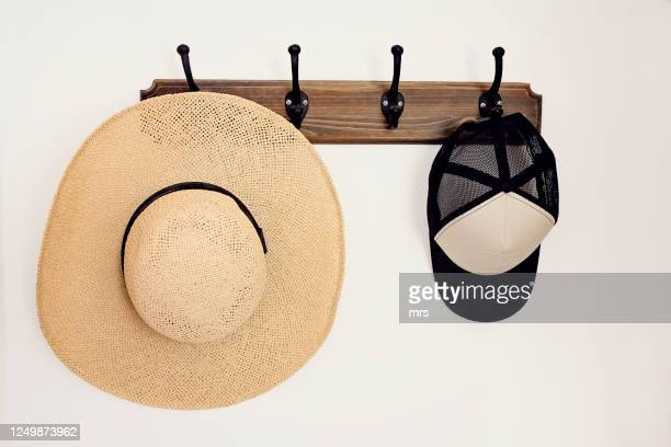 two hats - menswear stock pictures, royalty-free photos & images
