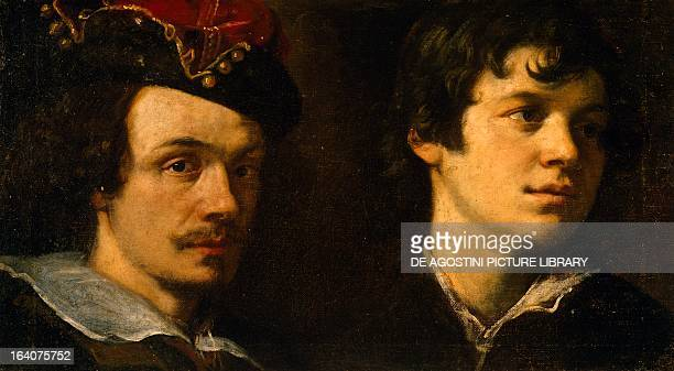 Two heads by Ludovico Cardi known as il Cigoli painting Cortona Museo Dell'Accademia Etrusca