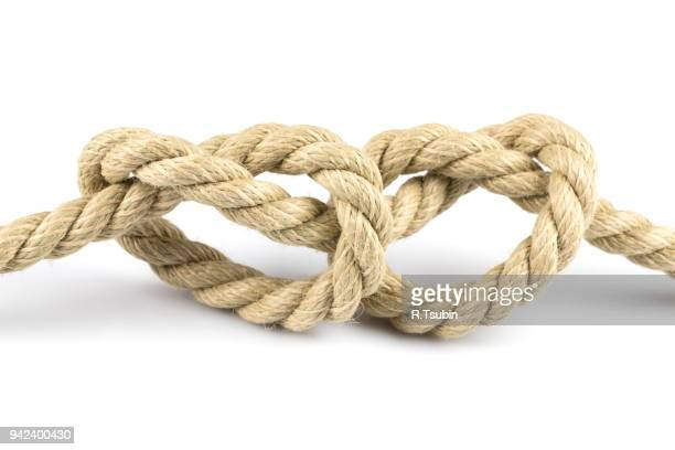 Two heart shape knots of rope