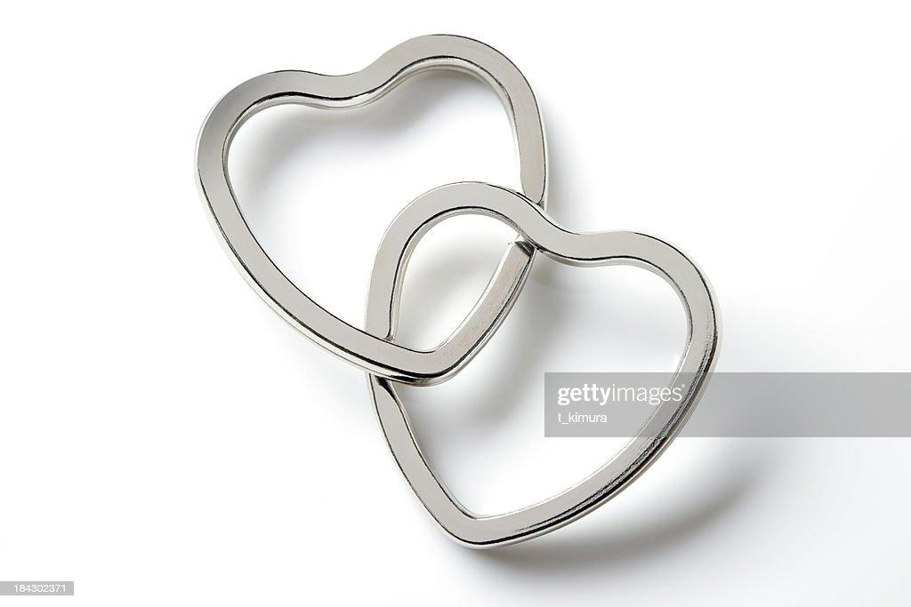 Two Hearts : Stock Photo