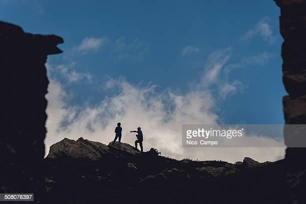 due escursionisti - monte rosa foto e immagini stock