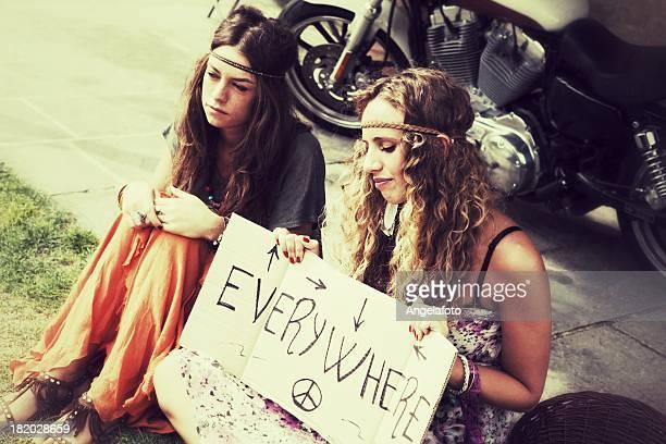 Two Hippies Women