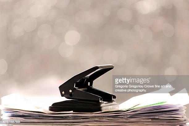 two hole paper punch - gregoria gregoriou crowe fine art and creative photography stock-fotos und bilder