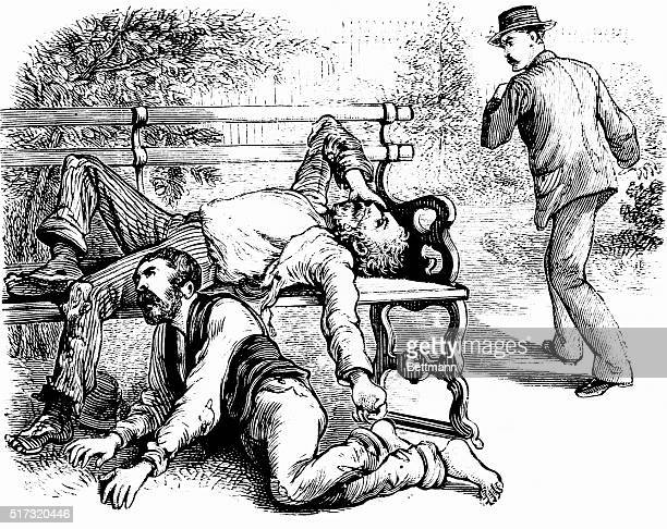 Two homeless men suffering from yellow fever writhe in pain as a man passes by horrified at the sight Yellow fever was common in New Orleans until...