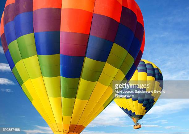 Two Hot Air Balloons Against Blue Sky in Sonoma, California