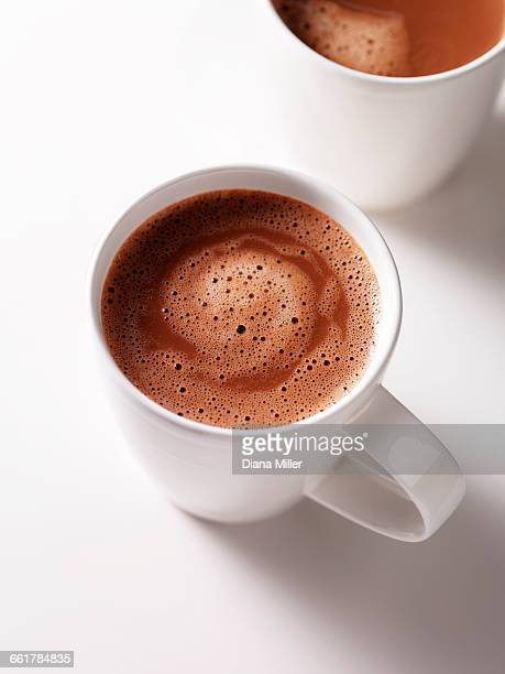 Two hot chocolate drinks