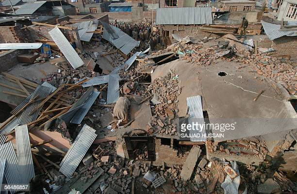Two houses were reduced to rubble during a firefight between Islamic rebels and Indian security forces at Bemina on the outskirts of Kashmir's summer...