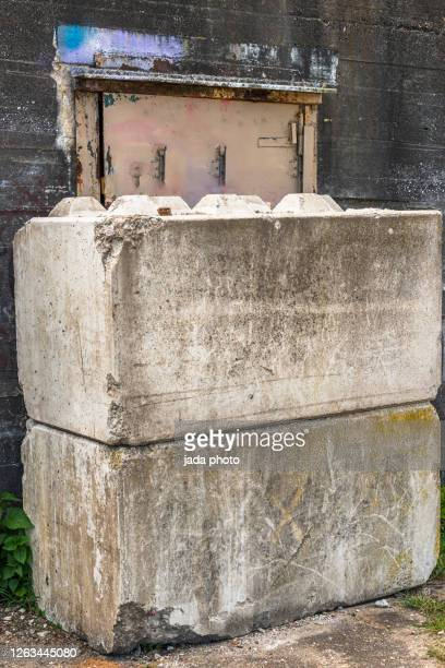 two huge concrete blocks stacked on top of each other - allied forces stock pictures, royalty-free photos & images