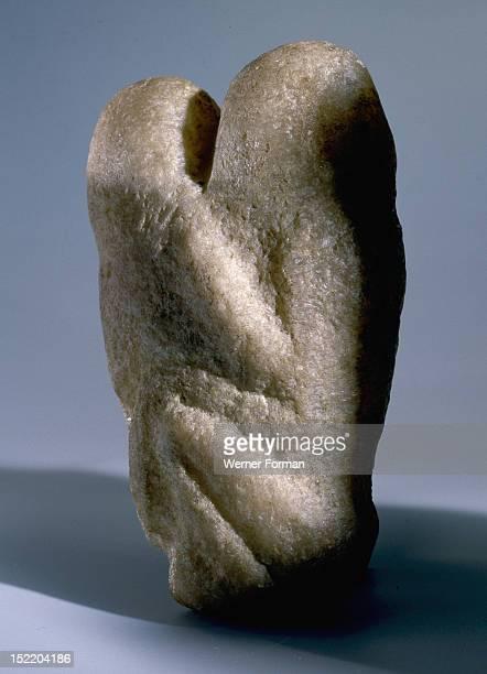 Two human figures in embrace Early Natufian c 9000 BC Ain Sakhri in Wadi Khareitoun south east of Bethlehem in the Judean Desert