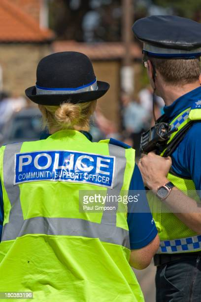 CONTENT] Two Humberside Police PCSOs out on duty in North Killingholme in the sunshine in July 2010