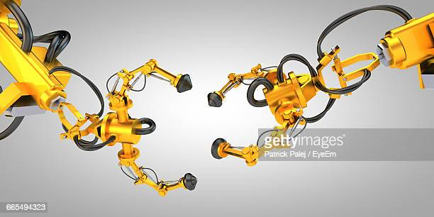 Two Hydraulic Robotic Arms
