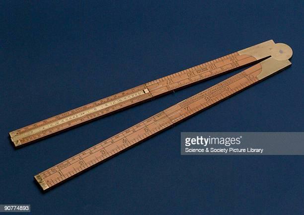 Two inch logarithmic slide rule made by John Rabone of Birmingham