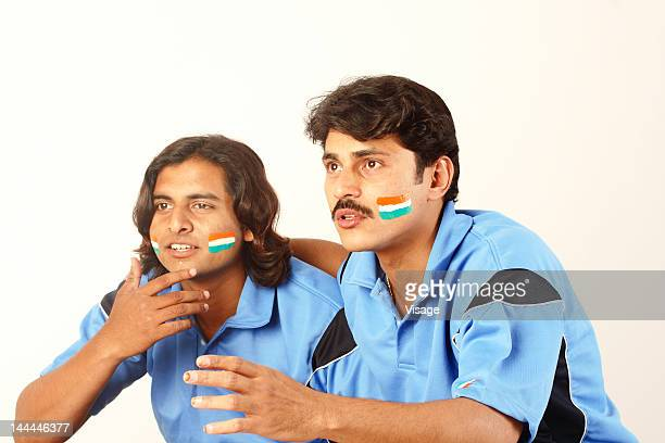 Two Indian cricket fans
