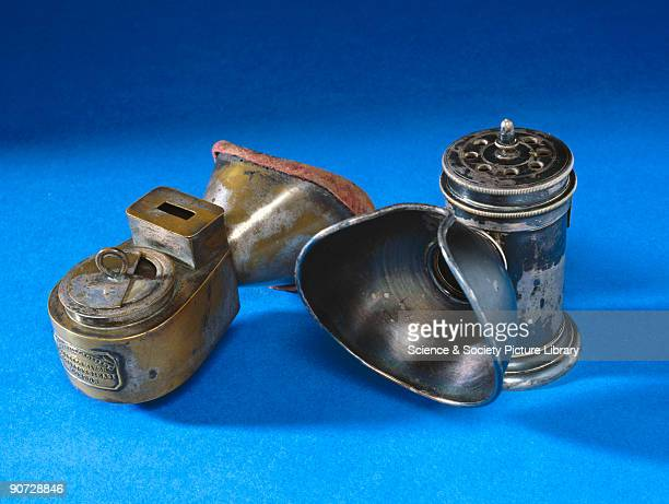Two inhalers for administering anaesthetic Murphy's inhaler for chloroform anaesthesia in midwifery made by Coxeter London between 1848 and 1894 and...