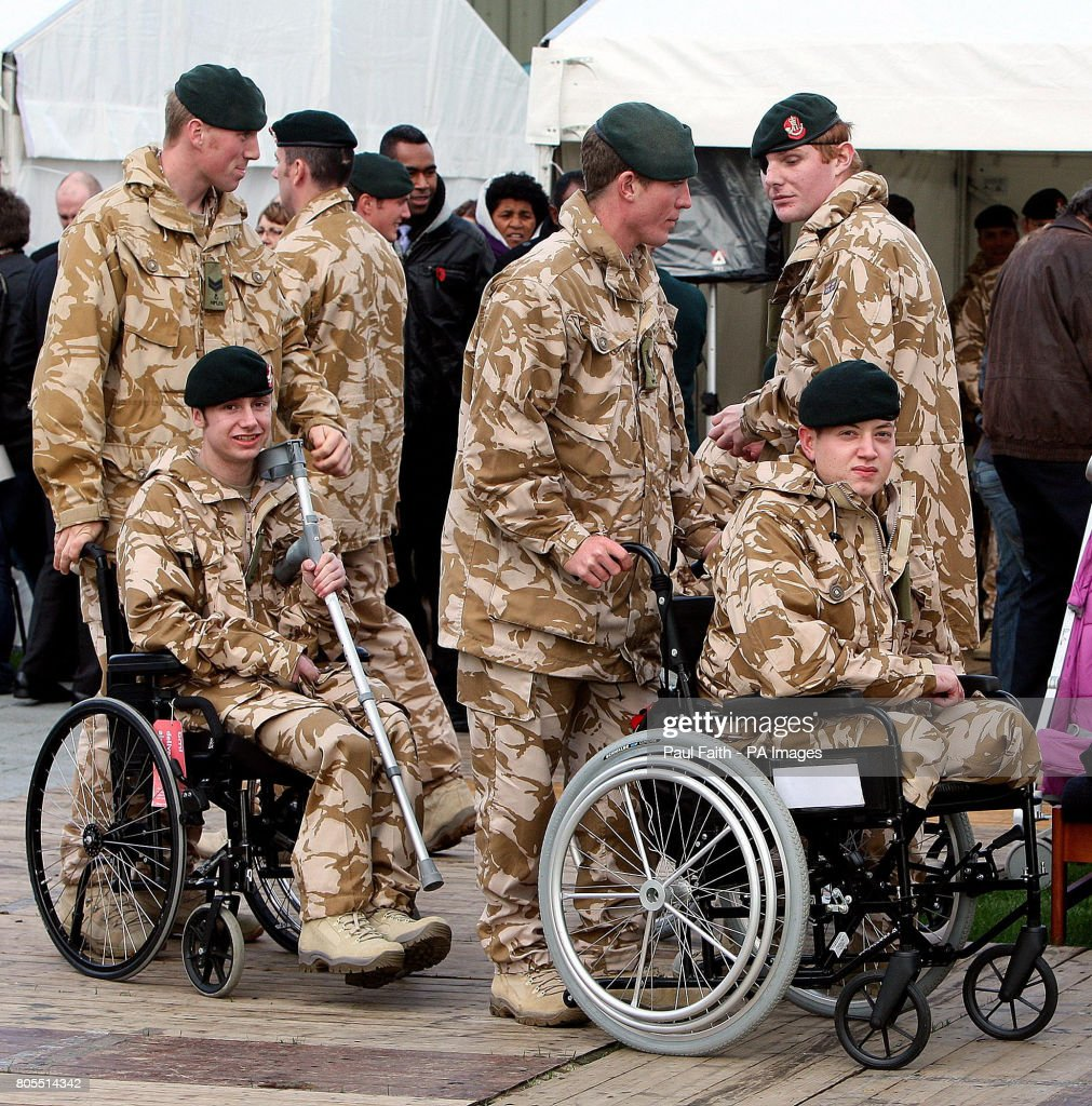 Two Injured Soldiers From 2 Rifles Who Received Operational Medals At Ballykinler Army Base