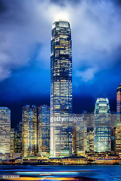 two international finance centre skyscraper, hong kong - two international finance center stock pictures, royalty-free photos & images