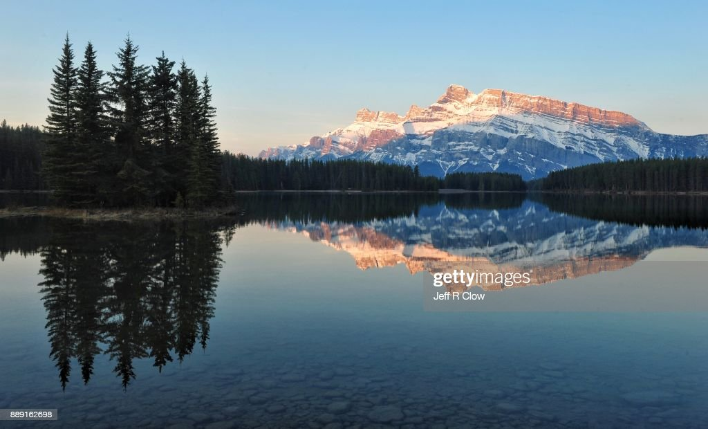Two Jack Lake at First Light 2 : Stock Photo