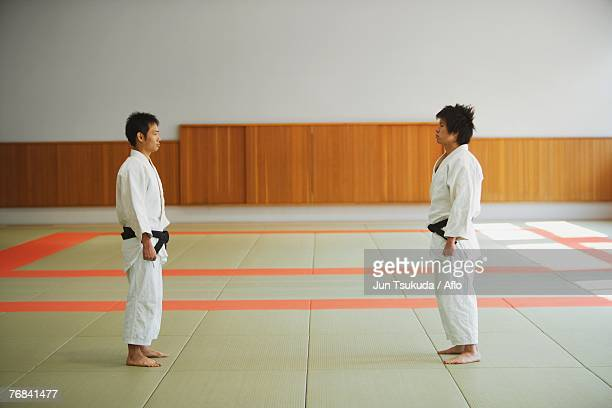 Two Judo Experts Face Each Other