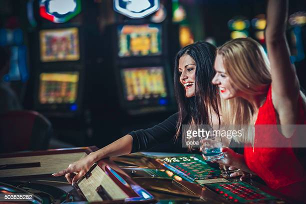 Two  lady's  gambling at the casino