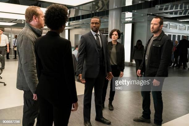 BLINDSPOT 'Two Legendary Chums' Episode 312 Pictured Rob Brown as Edgar Reade Jaimie Alexander as Jane Doe Sullivan Stapleton as Kurt Weller