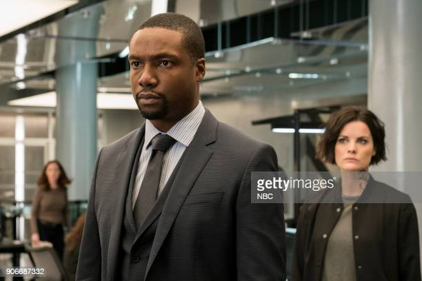 BLINDSPOT 'Two Legendary Chums' Episode 312 Pictured Rob Brown as Edgar Reade Jaimie Alexander as Jane Doe
