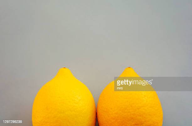 two lemons - breast stock pictures, royalty-free photos & images