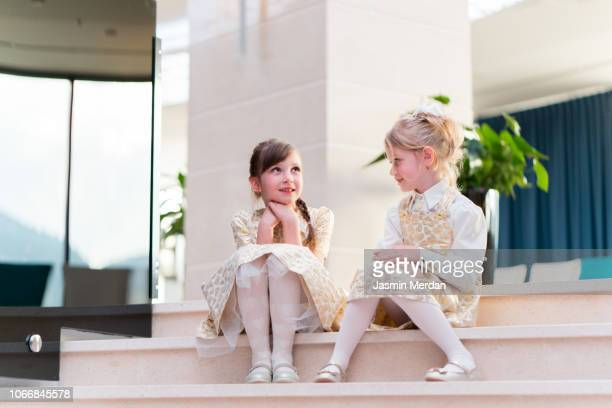 two little adorable girls - beautiful turkish girl stock pictures, royalty-free photos & images