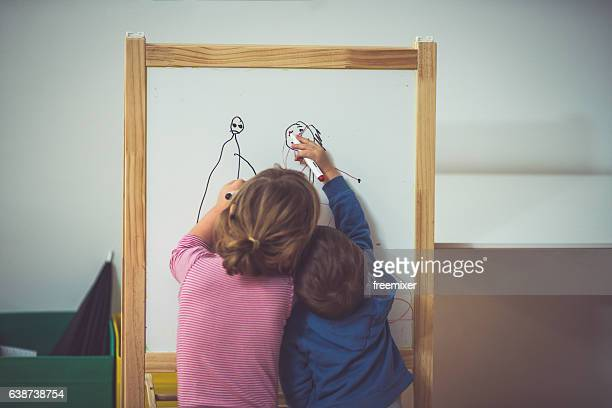Two little artists