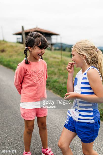 two little girls having fun - children only stock pictures, royalty-free photos & images