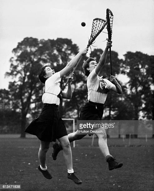 Two London University students Gillian Mc Cullagh from Middlesex Hospital and Judy Hardwick from Bedford College in training for the Southern...