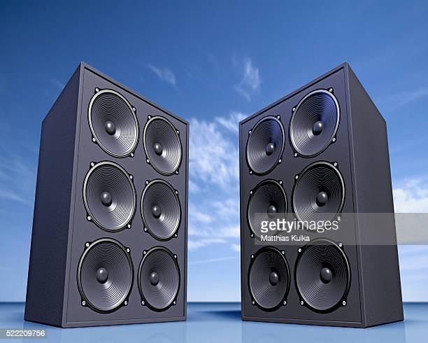 Two loud speakers