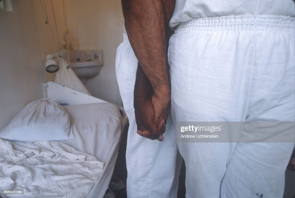Two lovers share a prison cell on May 15, 1999 at a prison in Texas.
