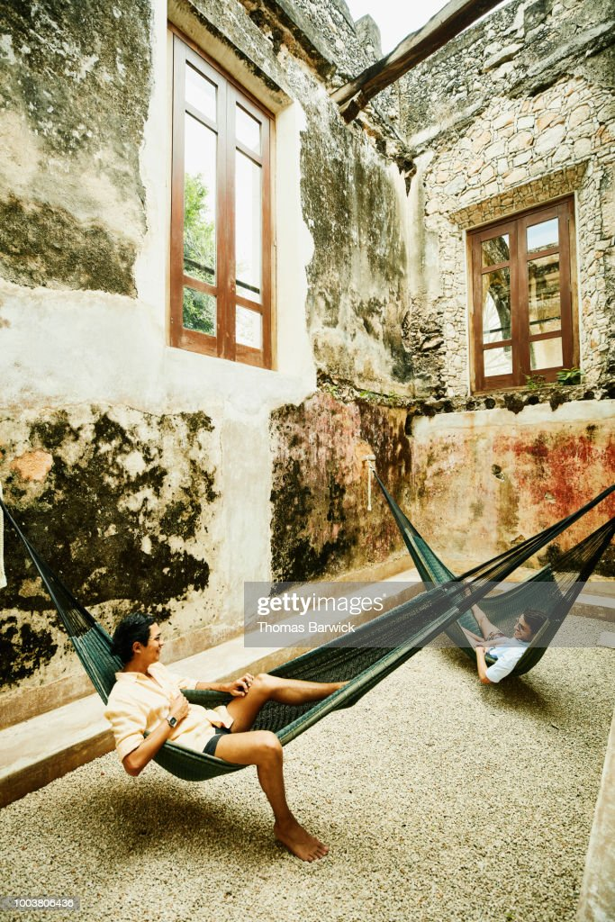 Two males and a hammock