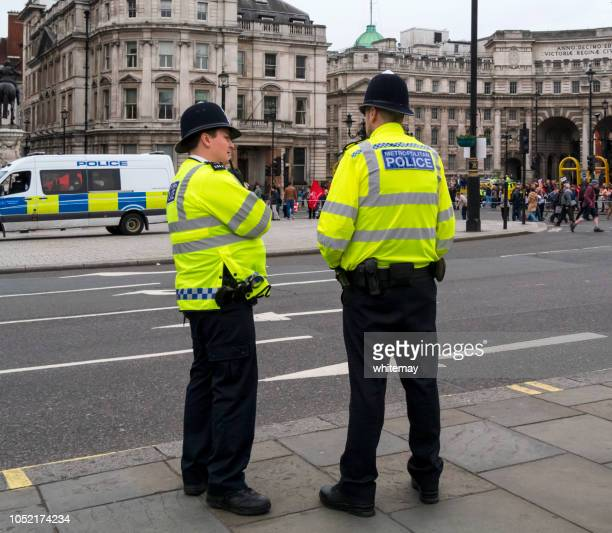 Two male police officers on duty in London