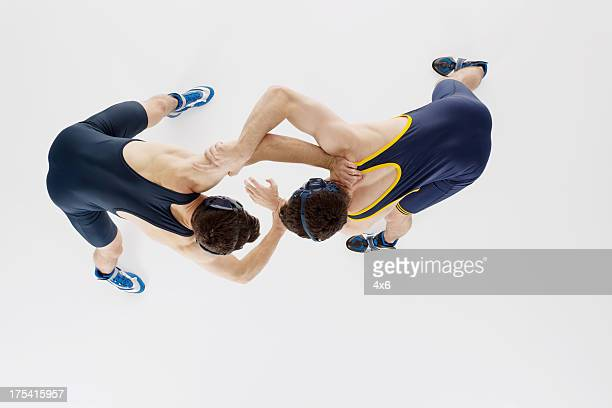 Deux coureurs Lutteur en action