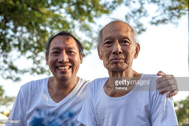 Two man smile