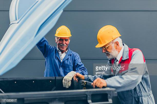 two manual emptying dustbin - industrial storage bins stock pictures, royalty-free photos & images
