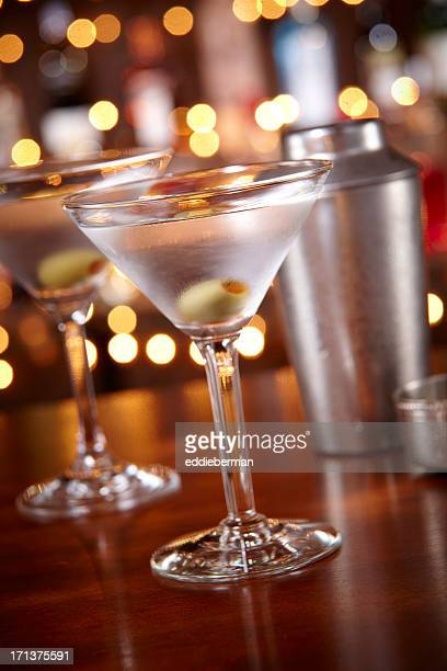 two Martinis at a bar