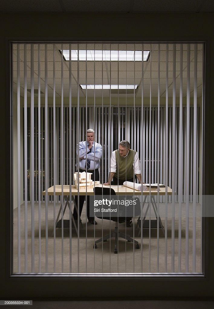 Two mature businessmen in meeting : Stock Photo