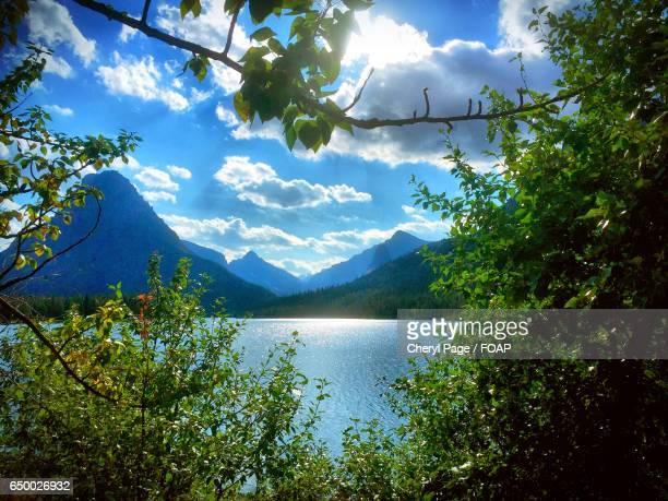 two medicine lake, glacier national park, montana - two medicine lake montana stock photos and pictures