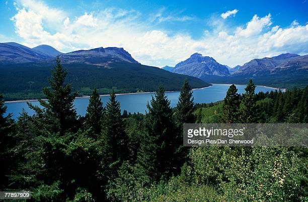 """two, medicine, lake,, glacier, national, park"" - two medicine lake montana stock-fotos und bilder"