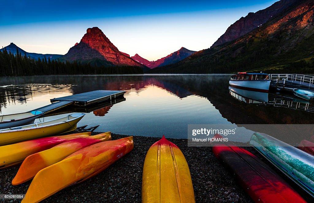 Two Medicine Lake : Stock Photo