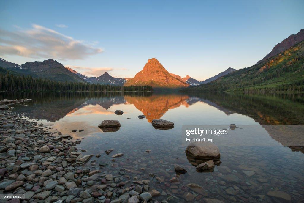 Two Medicine Lake Sunrise : Stock Photo