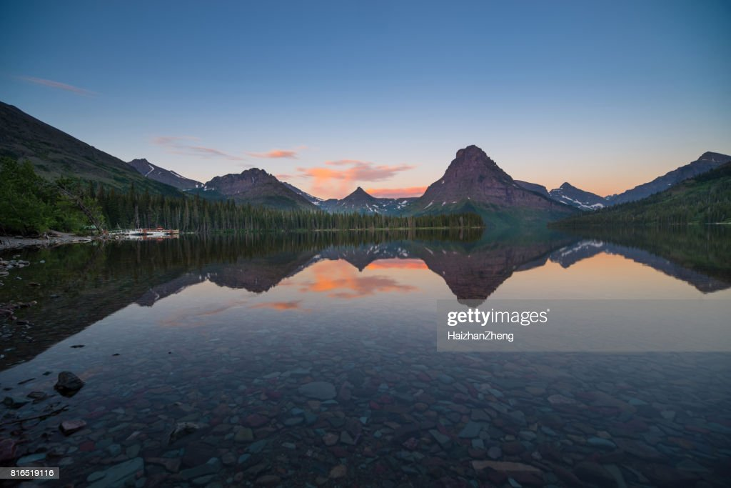 Two Medicine Lake Sunrise : Stock Photo