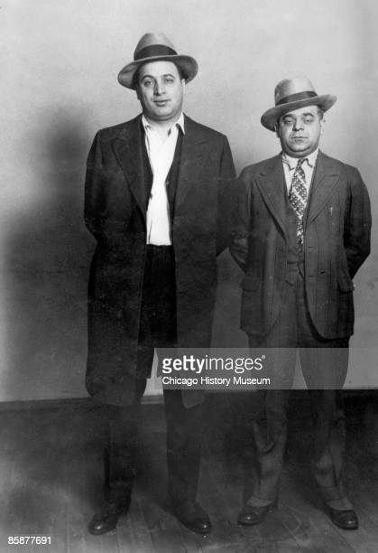 Two members of Al Capone's gang on left Ralph Capone and on right Anthony Aresso Chicago early 1920s