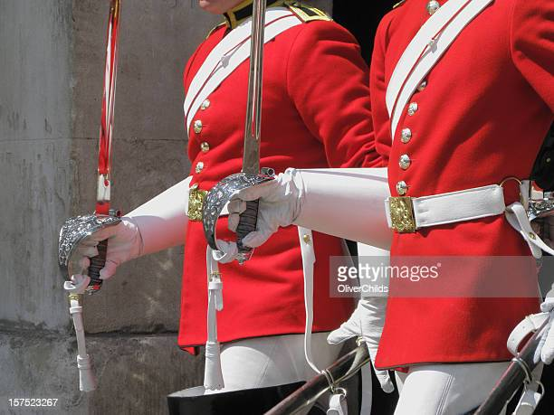 two members of the household cavalry. - honor guard stock pictures, royalty-free photos & images