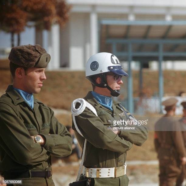 Two members of the US army belonging to the Joint Security Area in Panmunjon on the the 3rd of November in 1971 Panmunjon is a military area in the...