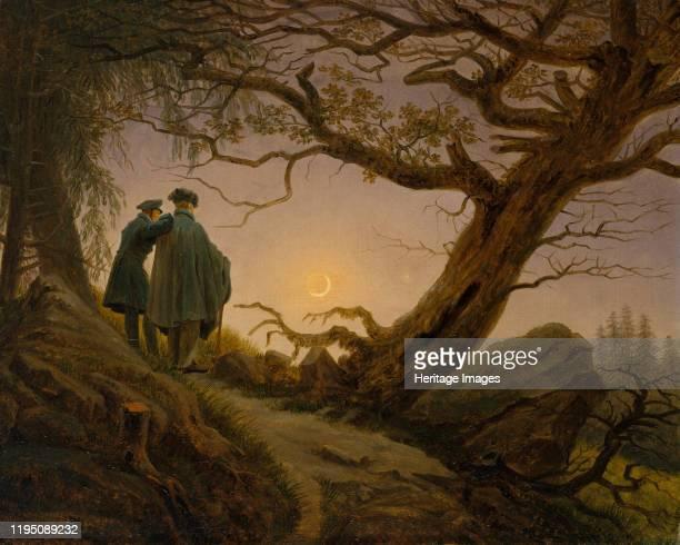 Two Men Contemplating the Moon, circa 1825-30. Artist Caspar David Friedrich.