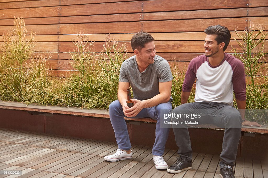 Two men hanging out : Stock Photo