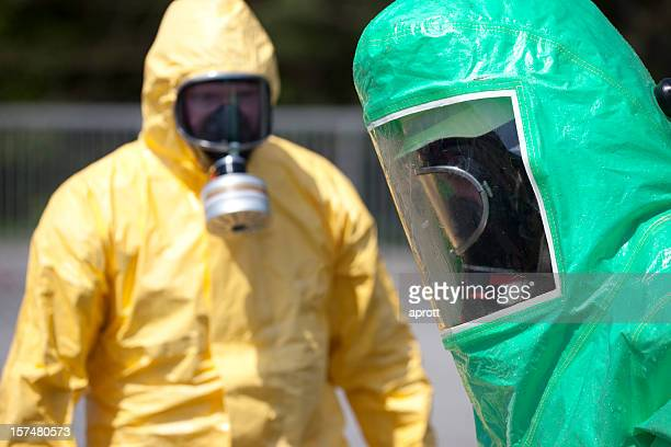 Two men in protective gear